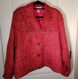 Coldwater Creek Red Twill Plus size Jacket